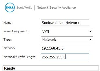 Sonicwall Mikrotik Address Object, LAN Network